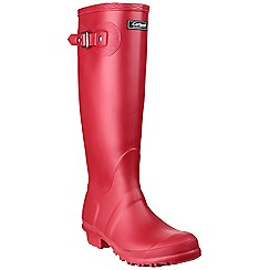 Cotswold - Red 'Sandringham' wellington boots