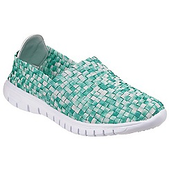 Divaz - Green 'Raft' slip on trainers