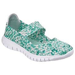 Divaz - Green 'Drift' slip on trainers