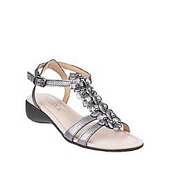 The Flexx - Piombo 'New Gladiola Tris' metalic leather sandals