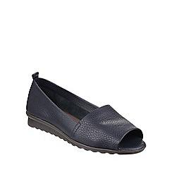 The Flexx - Navy 'Fantastic Grano' peep toe shoes