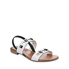 Riva - White 'Esta' leather sandals
