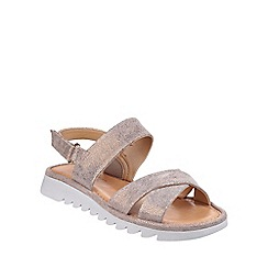 The Flexx - Bronzo Walk A Beat Cosmic' cross strap sandals