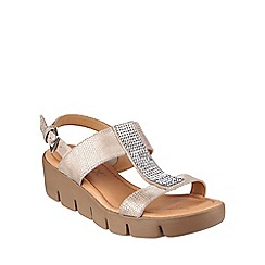The Flexx - Platino 'Strass Em Up Amour' wedged sandals