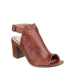 Riva - Tan 'Pia' Leather slingback peeptoe Sandals