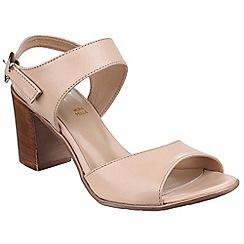 Riva - Nude 'Tazia' slingback heeled leather sandal