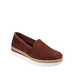 Riva - Brown 'Loreta' slip on suede shoes