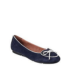 Riva - Navy/white 'Adalina' slip on suede shoes