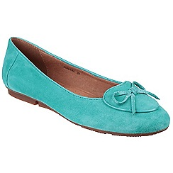 Riva - Turquoise 'Adalina' slip on suede shoes