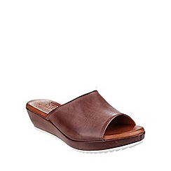Riva - Brown 'Carlita' leather mule