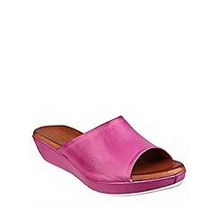 Riva - Fushcia 'Carlita' leather mule