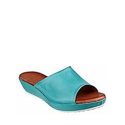Riva - Turquoise 'Carlita' leather mule