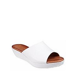Riva - White 'Carlita' leather mule