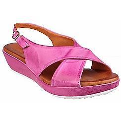Riva - Fushcia 'Ambra' leather slingback sandal