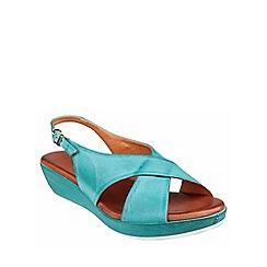 Riva - Turquoise 'Ambra' leather slingback sandal