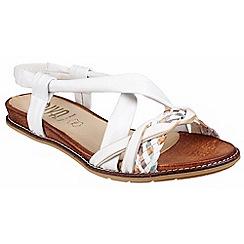 Riva - White multi 'Dani' low wedged sandal