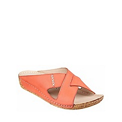 Riva - Coral leather 'Agata' mule sandal
