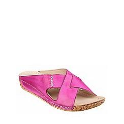 Riva - Fuchsia leather 'Agata' mule sandal