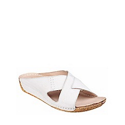 Riva - White leather 'Agata' mule sandal