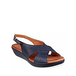 Riva - Navy 'Ambra' leather slingback sandal