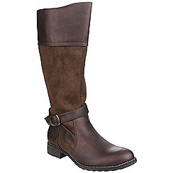 Divaz - Brown 'Garbo' knee high boot