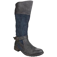 Divaz - Navy 'Garbo' knee high boot