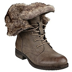 Divaz - Brown 'Leigh' warm lined boot