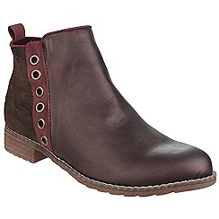 Divaz - Burgundy 'Demi' ankle boot