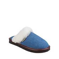 Cotswold - Blue 'Radway' slipper
