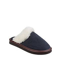 Cotswold - Navy 'Radway' slipper