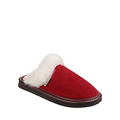 Cotswold - Red 'Radway' slipper