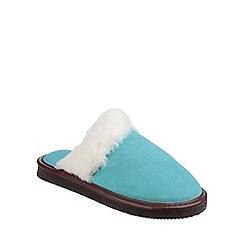 Cotswold - Turquoise 'Radway' slipper