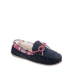 Cotswold - Navy 'Kilkenny' warm lined slipper