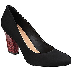 Riva - Black suede ''Positano' high black heel shoes