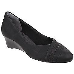 Rockport - Black nubuck 'Cerelia Calanthe Layer' slip on shoes