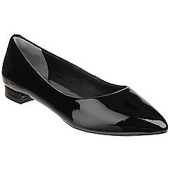Rockport - Black Suede 'Total Motion Adelyn' ballet shoe