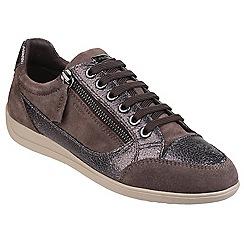 Geox - Chestnut/gunmetal 'Myria' zip up sneaker