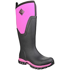 Muck Boot - Black/pink 'Arctic Sport Tall' wellington boot