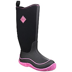 Muck Boot - Black/hot pink 'Hale' wellington boot