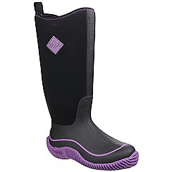 Muck Boot - Black/purple 'Hale' wellington boot