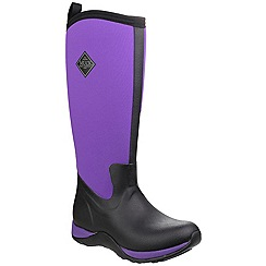 Muck Boot - Black/purple 'Arctic Adventure' wellington boot
