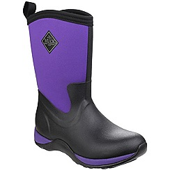 Muck Boot - Black/purple 'Arctic Weekend' wellington boot