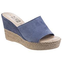 Riva - Blue suede 'Alliste' high wedge sandals