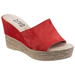 Riva - Red suede 'Alliste' high wedge sandals