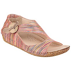 Riva - Coral multi striped 'Cartier'low wedge sandals