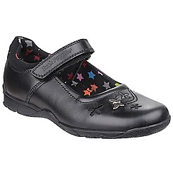 Hush Puppies - Girls' black 'Clare' leather Shoes