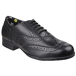 Hush Puppies - Girls' black 'Kada' leather shoes