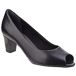 Rockport - Black 'Audrina' peep slip on shoes
