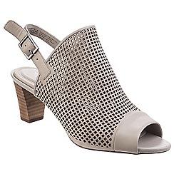 Rockport - Khaki 'Audrina' peep slip on shoes