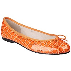 French Sole - Orange 'Henrietta' ballerina